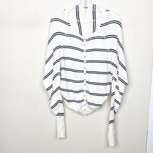 Free People Long Sleeve Striped Cardigan Sweater